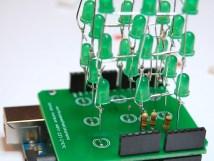 3x3x3 Led Cube Arduino Shield Make Diy Projects