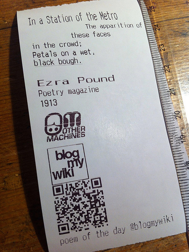Thermal Printer Outputs Poems