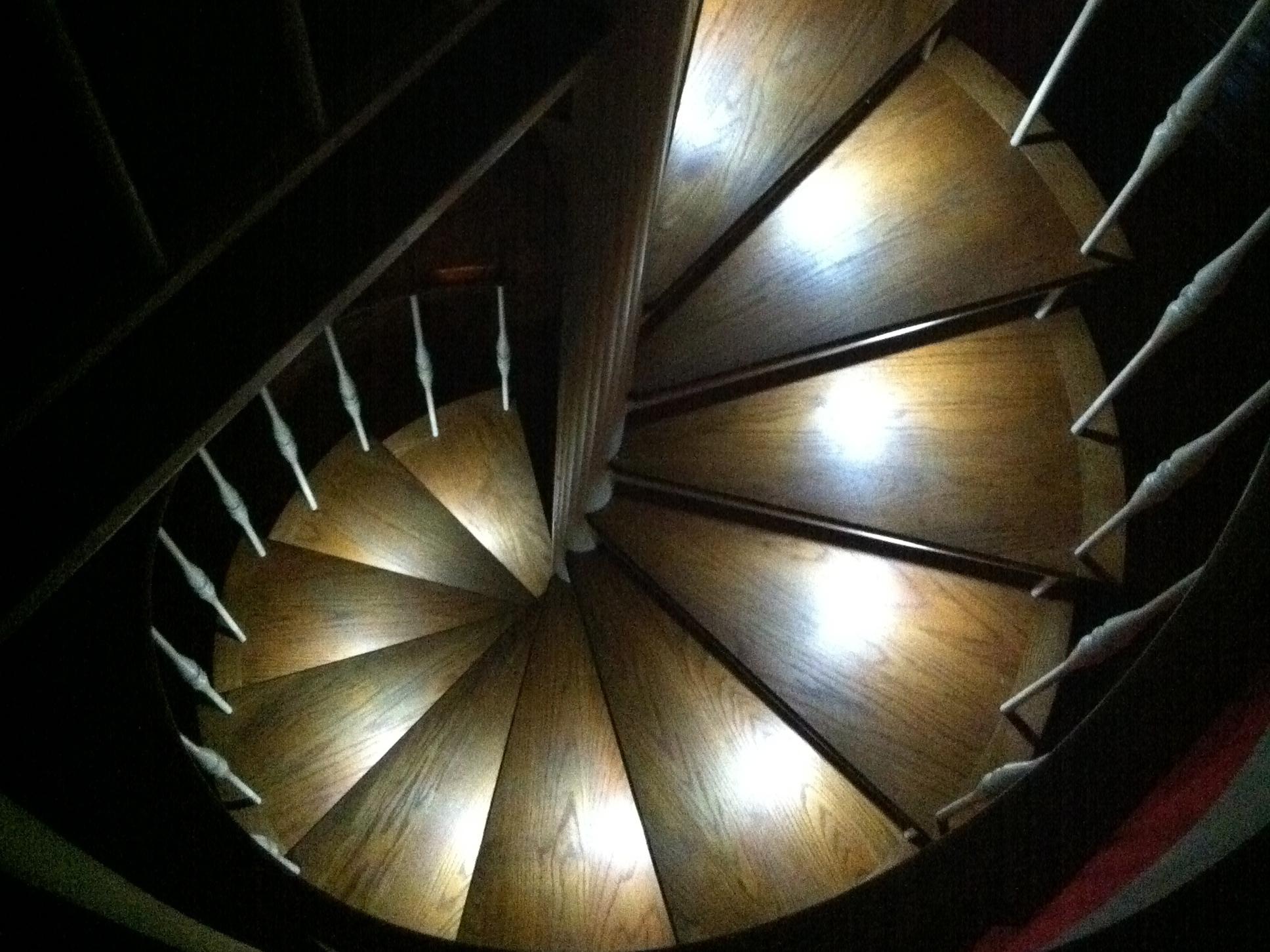 Custom LED Spiral Staircase Lighting  Make