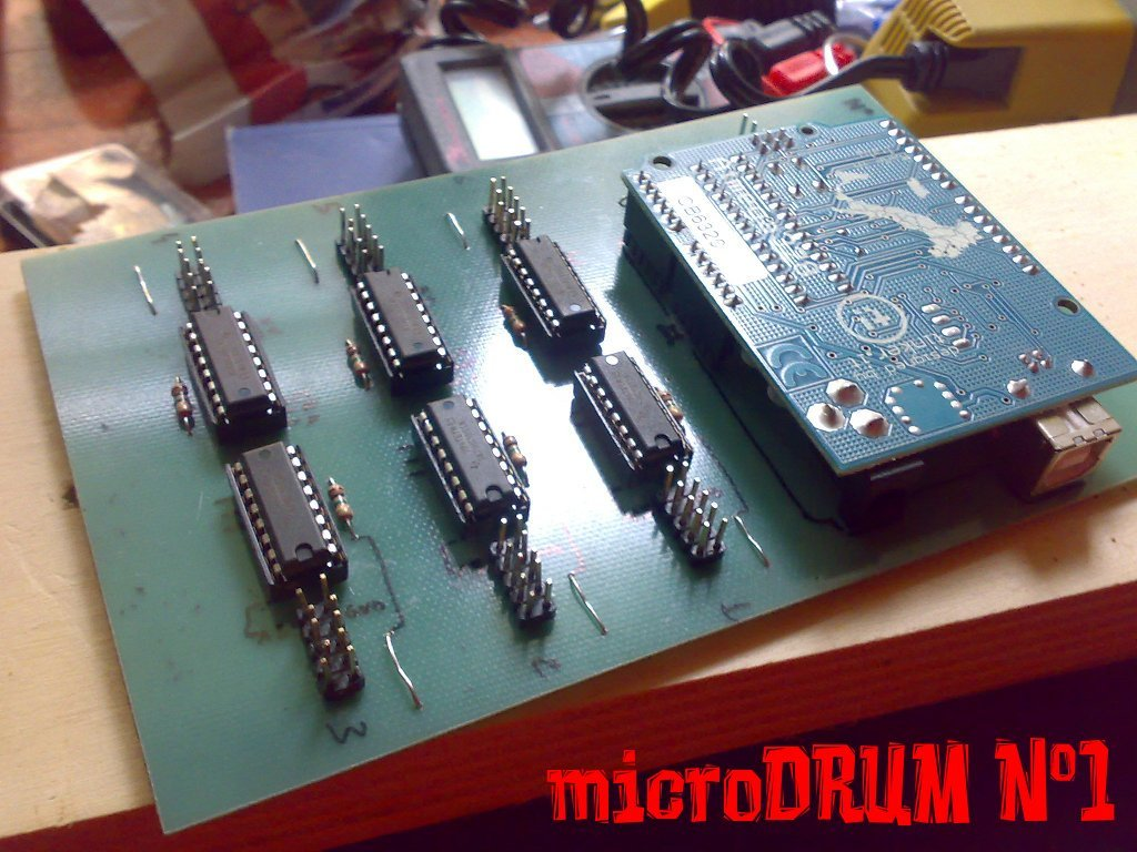 ArduinoBased MIDI Drum System  Make