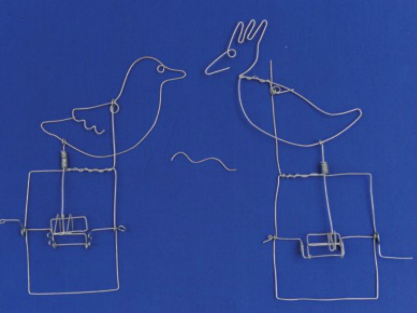 Bent-Wire Crank Toy