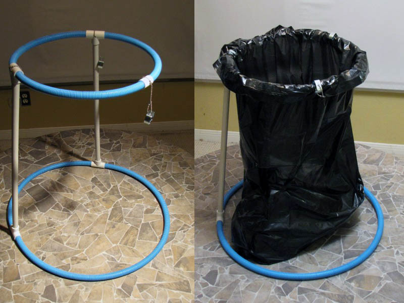 Collapsible Trash Bag Frame  Make DIY Projects HowTos