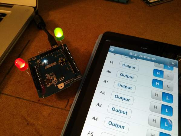 BLE Shields in the Maker Shed: One-Tap Wireless Between Arduino and Cell Phones