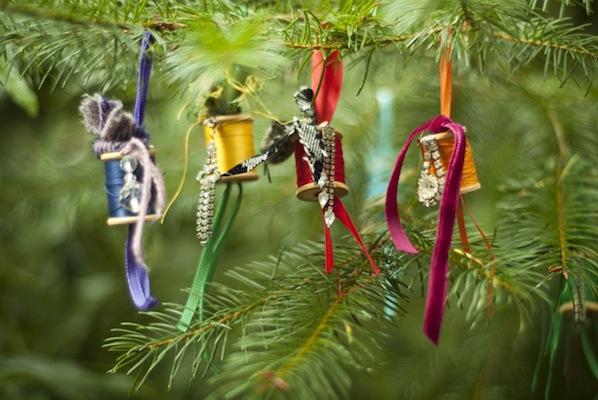 Flashback: Sparkling Thread Spool Ornaments