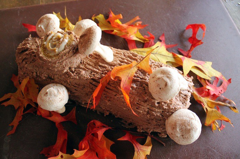 Pumpkin-Chocolate Bûche De Gratitude