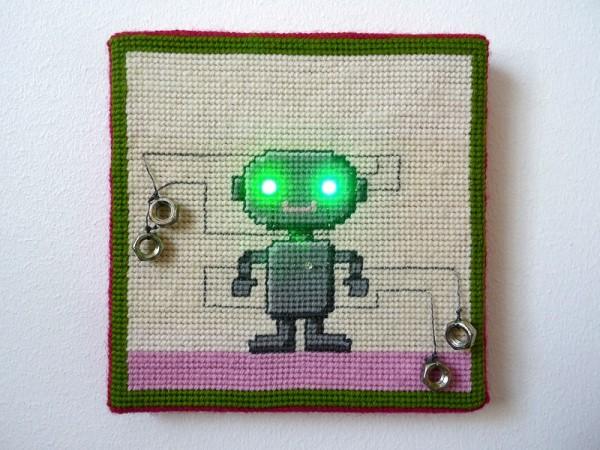LED Needlepoint Robot