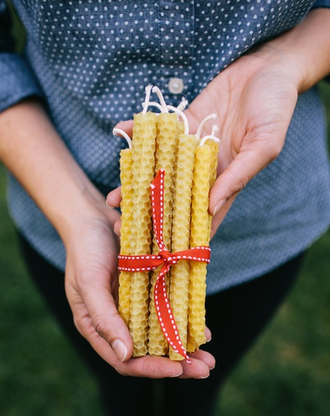 How-To: Rustic Beeswax Candles