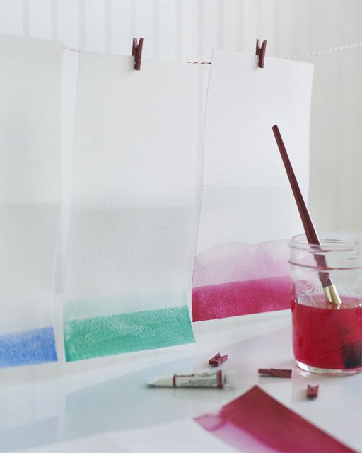 How-To: Ombre Notecards