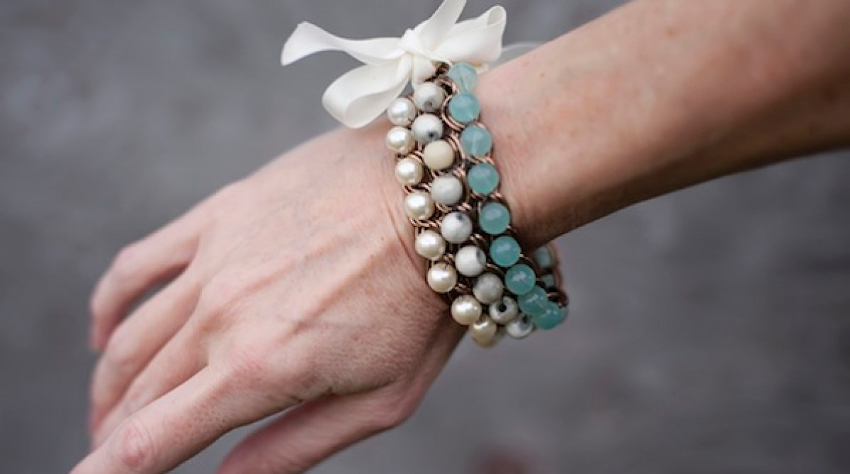 How-To: Ombre Bead & Chain Bracelet