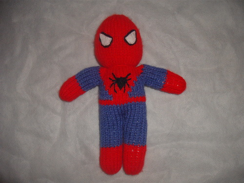 Knitted Spiderman Doll