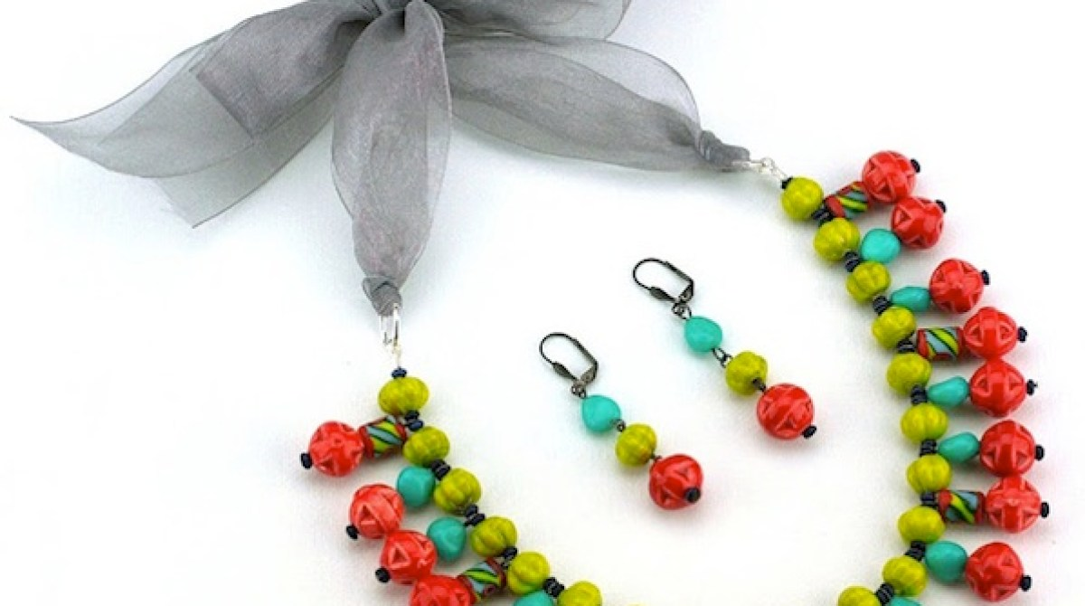 How-To: Folk Art-Inspired Necklace and Earring Set