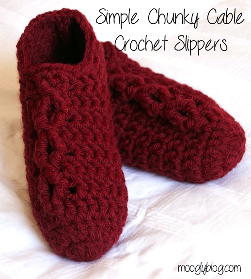 How-To: Chunky Cable Crochet Slippers