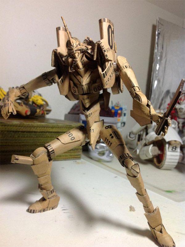 Transforming Cardboard Anime Character