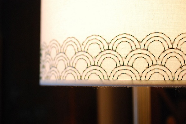 How-To: Embroidered Lampshade