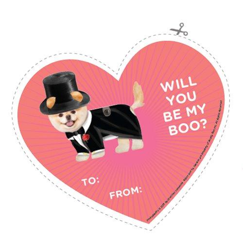 Boo the Dog Valentine Printables
