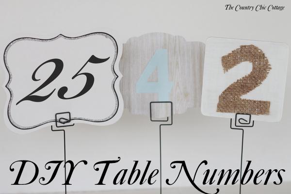 Table Numbers Three Ways