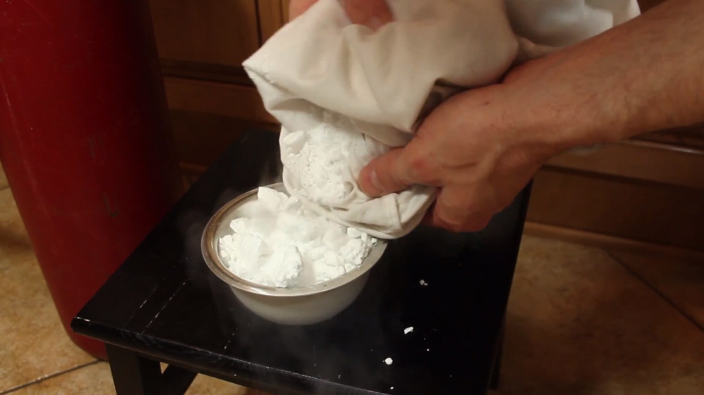 Make Dry Ice at Home with a Fire Extinguisher and a Pillowcase