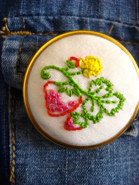 How-To: Embroidered Brooch
