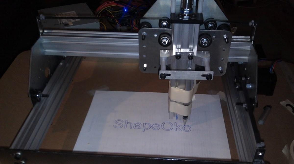 Network Enabled ShapeOko CNC Uses Raspberry Pi and Alamode