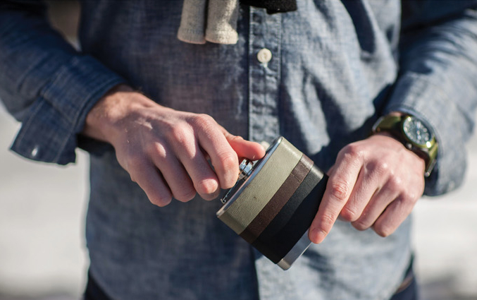 GUY DIY: Leather Flask