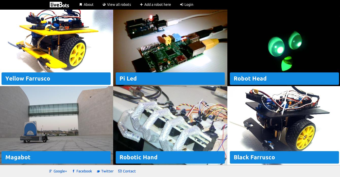 LiveBots, Robots Live on the Web