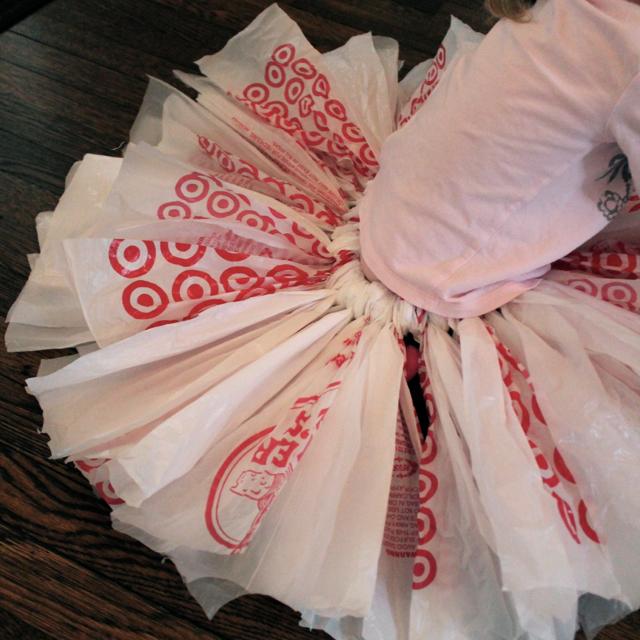 Upcycled Plastic Bag Tutu
