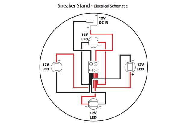 Speaker Stand Housing Schematic