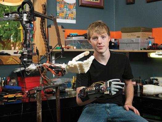 Teen Creates 3D Printed, Brain-Powered Prosthetic Arm