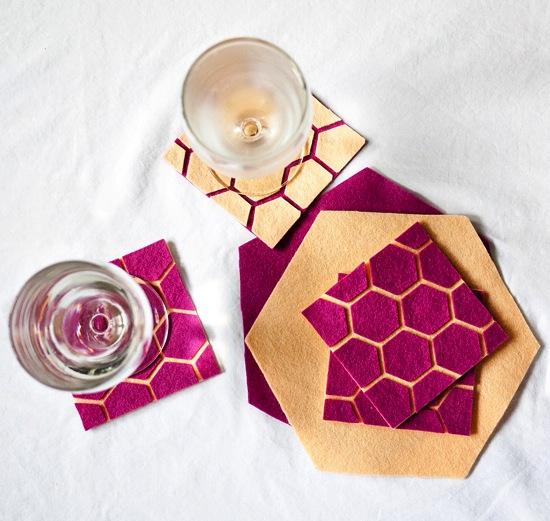 How-To: Geometric Felt Coasters