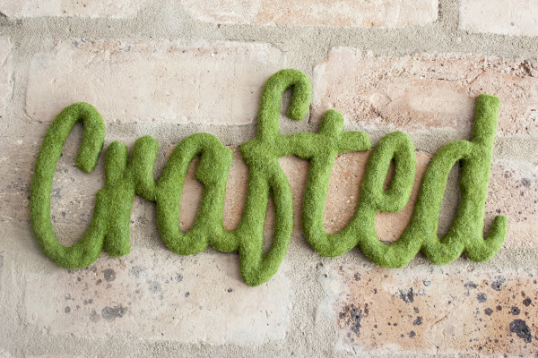 How-To: Faux Moss Words