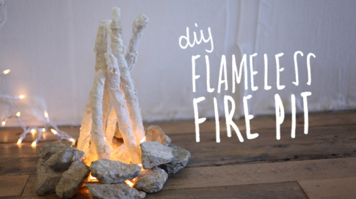 Article Featured Image - DIY Flameless Fire Pit Make: