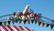The Fun Bike Unicorn Club (FBUC) hosts the pedal car races so of course there are unicorns aplenty.