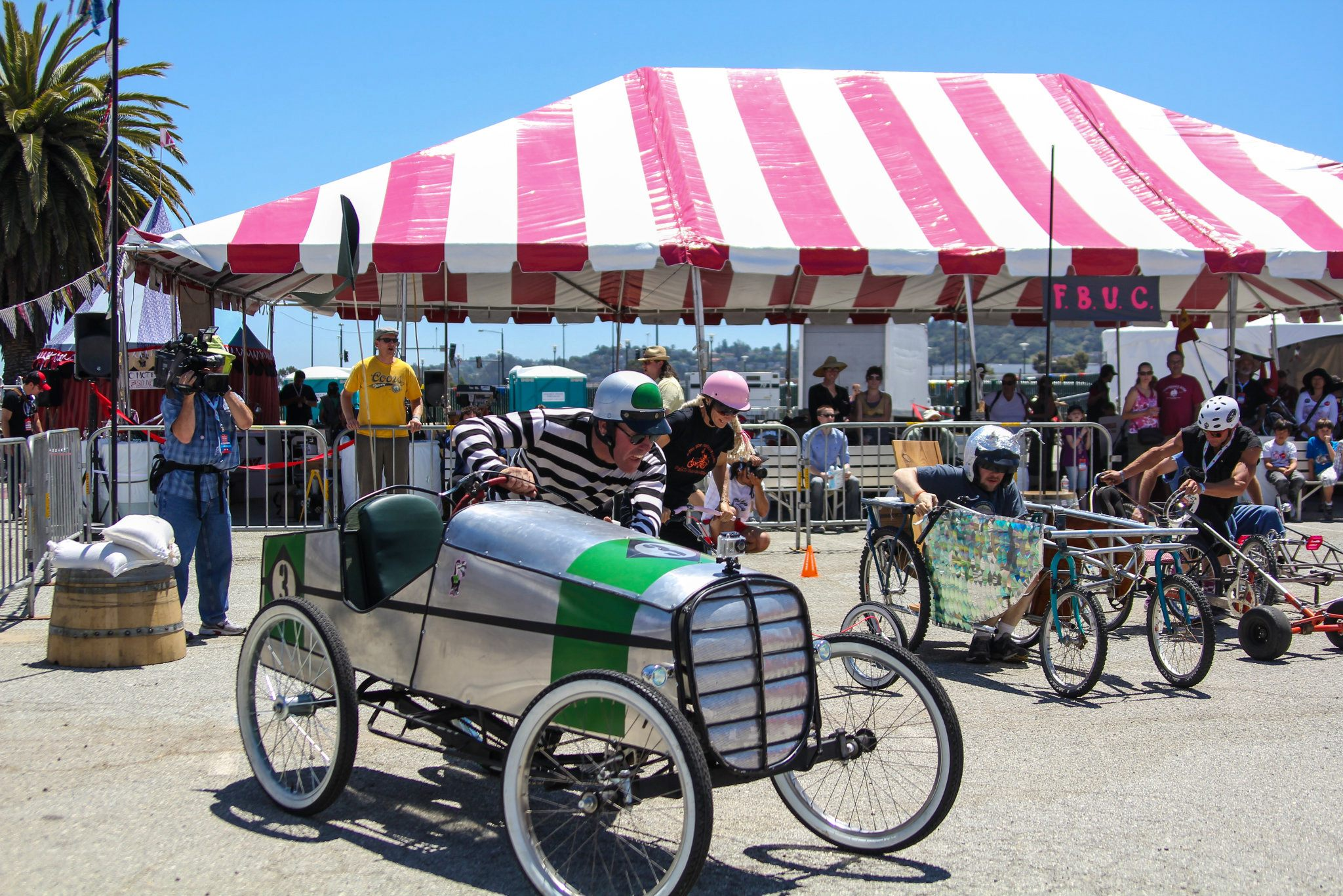 Death Defying Pedal Car Races at Maker Faire Bay Area