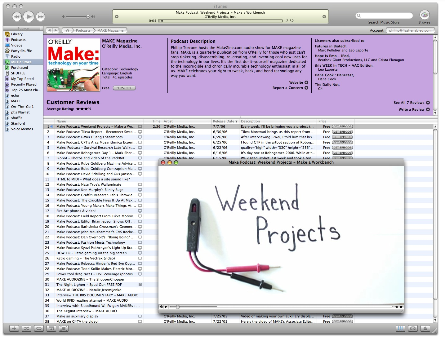 Tales From Make: Blog — iTune In, Turn On, Make Stuff