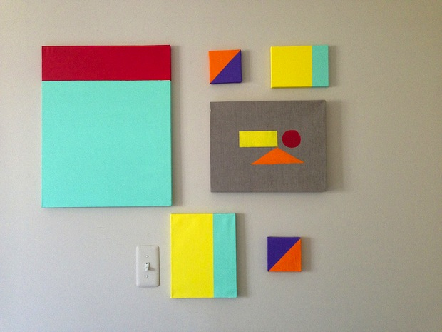 How-To: DIY Colorblock Wall Art
