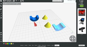 Like Tinkercad, 3DTin is completely browser-based. There's a large number of pre-built shapes that you can edit and drop right in. Try it here.