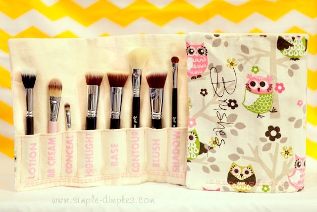 How-To: Makeup Brush Pouch