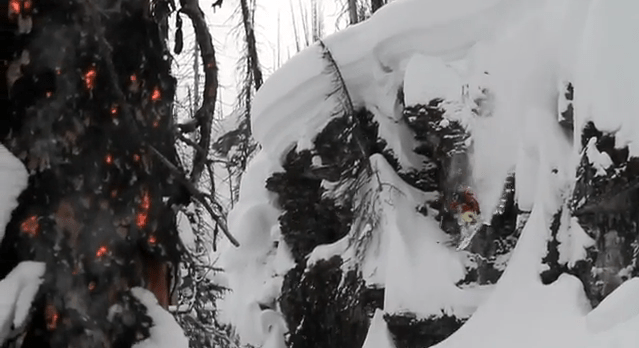 Blazing Snow: Skiing Through a Forest Fire (on Video)