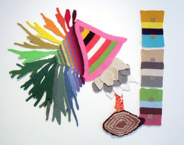 Abstract Knitted Wall Art