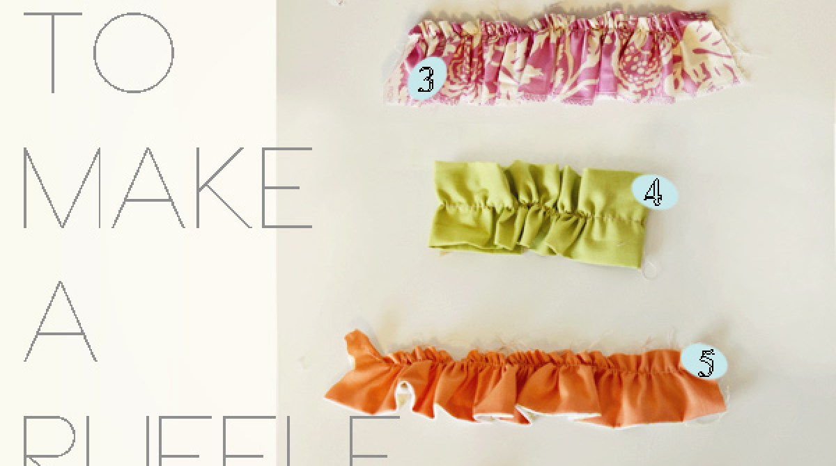 Seven Ways to Make a Ruffle