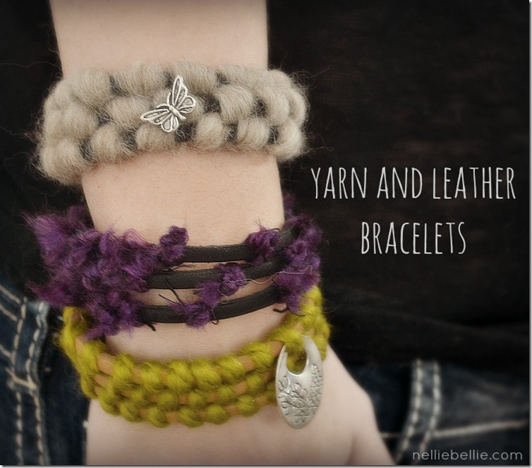 Yarn and Leather Bracelet | Make: