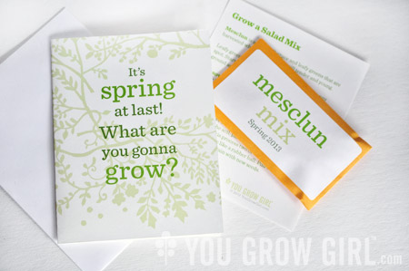 Celebrate Spring with Seed-Filled Card