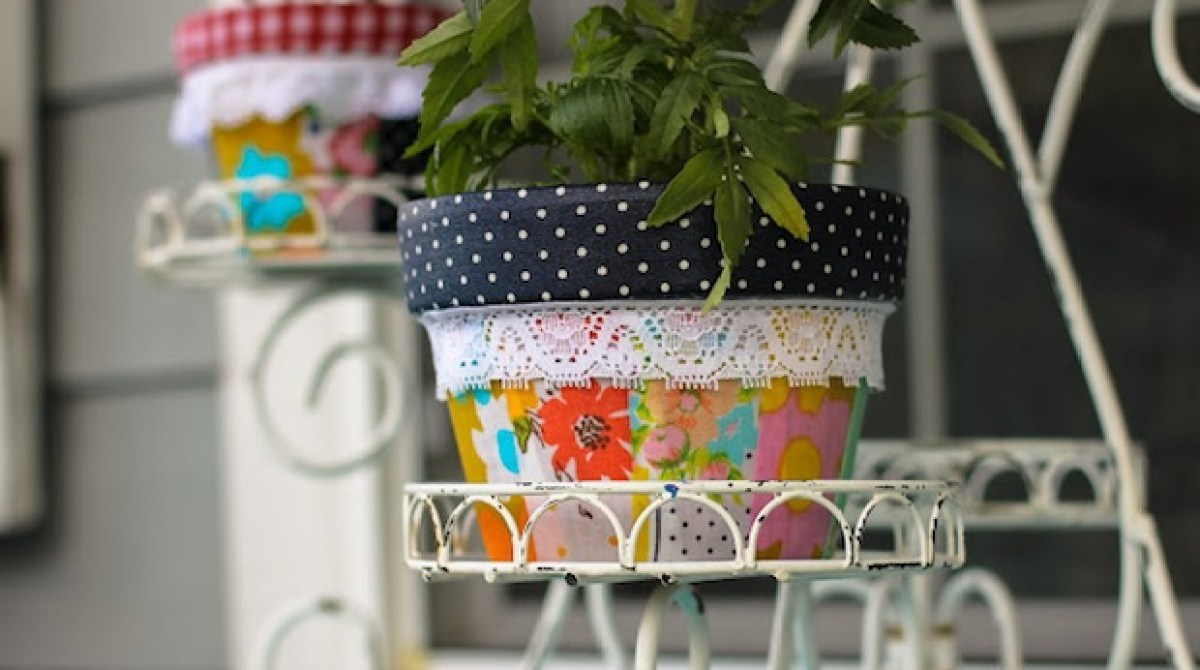 How-To: Patchwork Planters