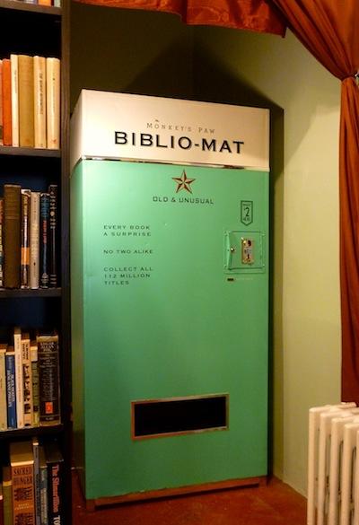The Biblio-Mat: A Random Book Dispensing Machine