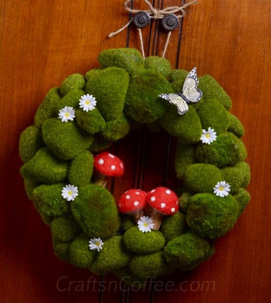 How-To: Spring Mushroom Moss Rock Wreath