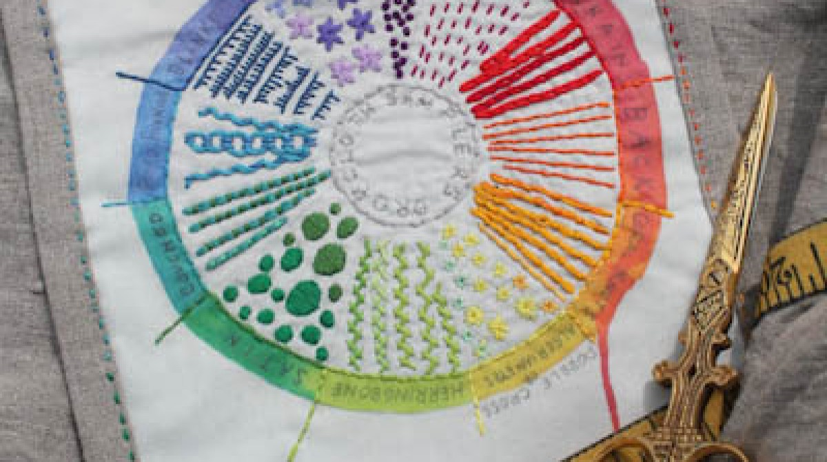 Color Wheel Embroidery Sampler