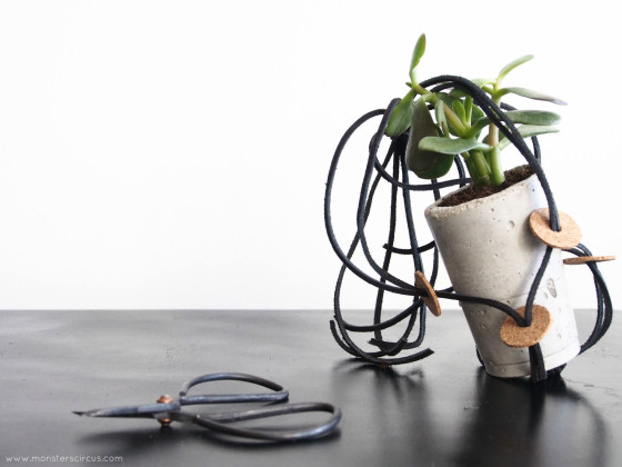 How-To: Cord and Cork Plant Hanger