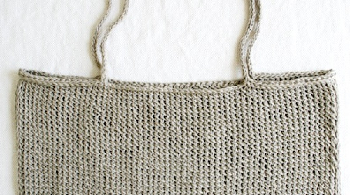 How-To: Simple Knit Tote Bag