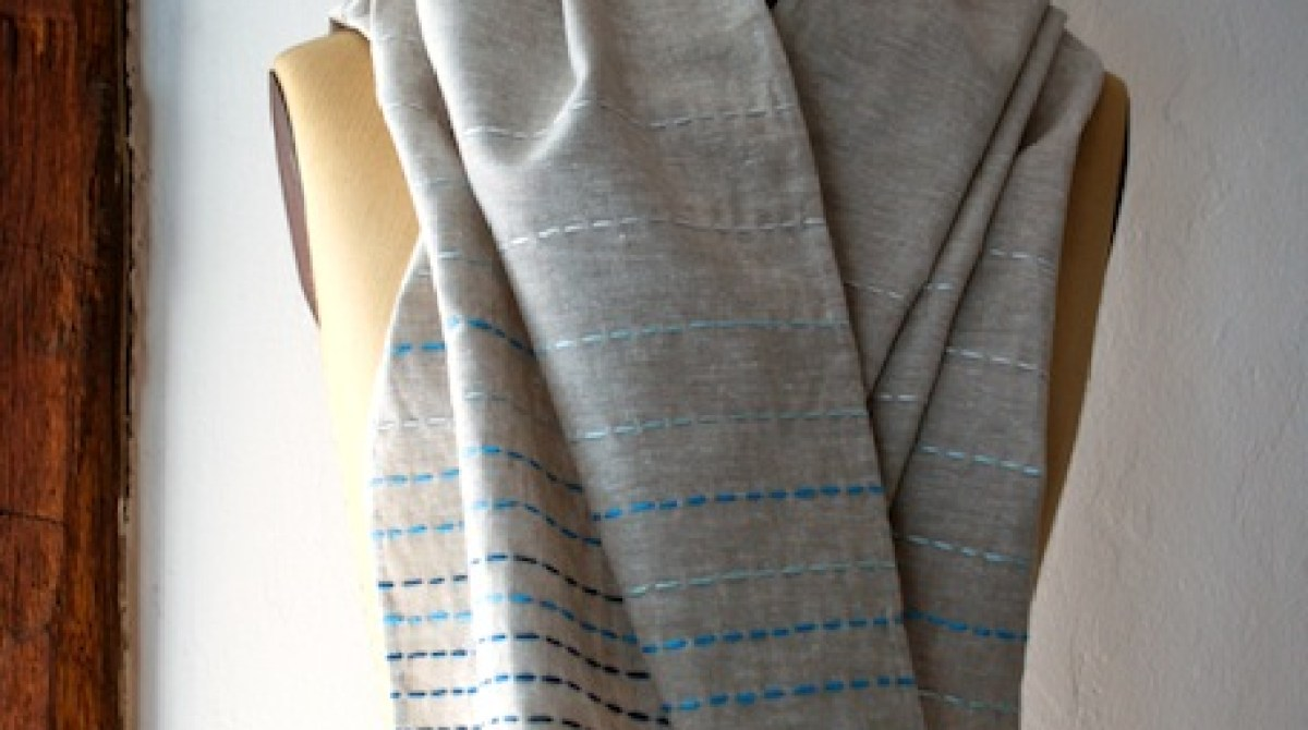 How-To: Running Stitch Scarf