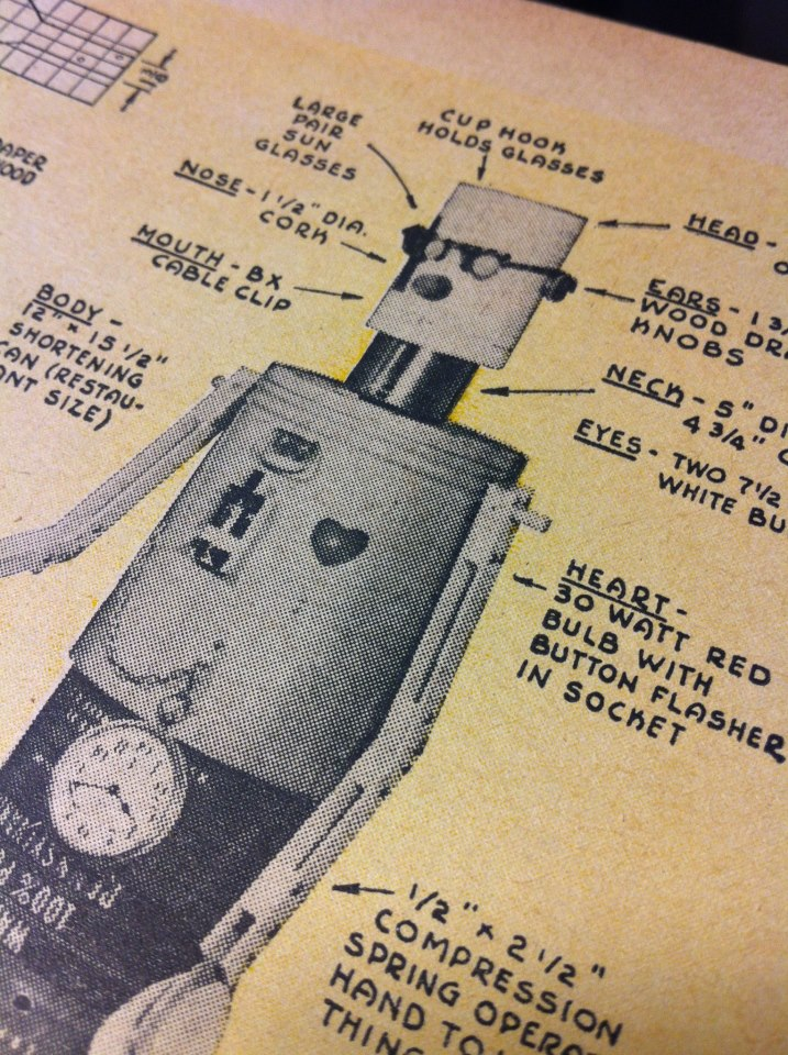 DIY Robot Building, Circa 1956